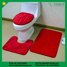 3PCS Simple Design Bathroom Washroom toilet cover rug
