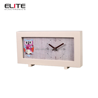analog wood stand small decorative bedroom free standing table clocks