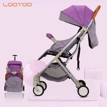 Aluminum alloy frame super light weight easy bicycle buggy travel system pram and stroller