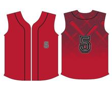 Full button Embriodery Club Name and Number 100% Polyester Softball Shirt Custom Sublimated Baseball Uniform
