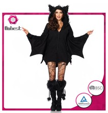HOT SELLING animal mascot costume for adult used halloween costumes sale SEXY BAT COSTUME