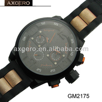 Silicone wristband sport watches for men