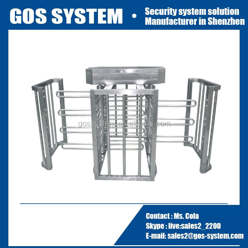 access control system automatic sliding half height turnstile door
