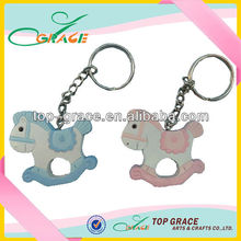 Polyresin horse animal key chains