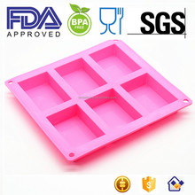 Amazon Hot Sale Eco-friendly Soap Mold Silicone Oval Cake Molds