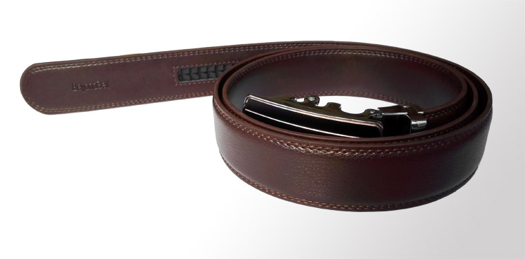 3.5cm Dark Brown Genuine Leather ratchet belt