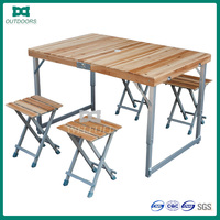 High quality folding wood table table and chair