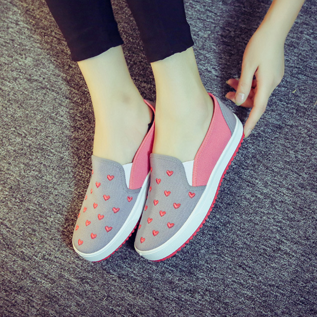 W71795G 2016 latest fashion shoes women soft flats canvas shoes for women