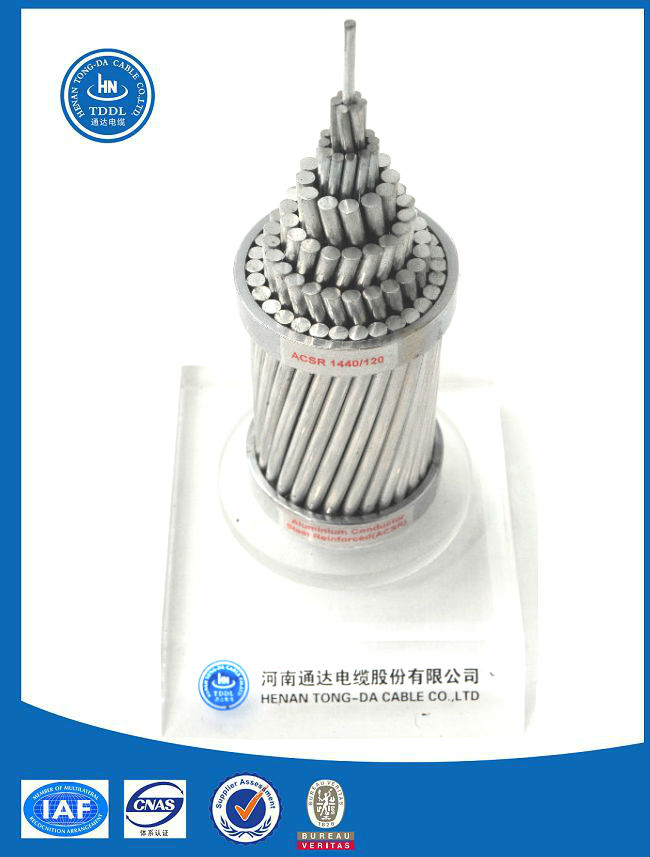 Bare ACSR aluminum wire conductor cable