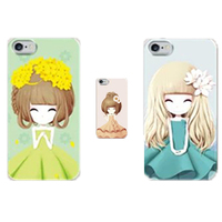 Custom Fancy Girls Printed Tpu Mobile Phone Case for IPhone5/5s