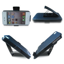 Best Selling Mobile phone holster case cover for iPhone 4S with belt clip