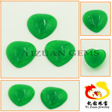 green synthetic heart emerald gem chlorella as tourmaline imitation in good prices