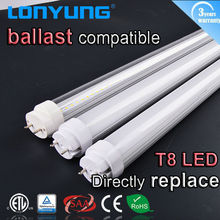 5W 0.37m LED T8 Oval / round tube CE SAA DLC ETU TUV Lonyung heat resistant light fitting
