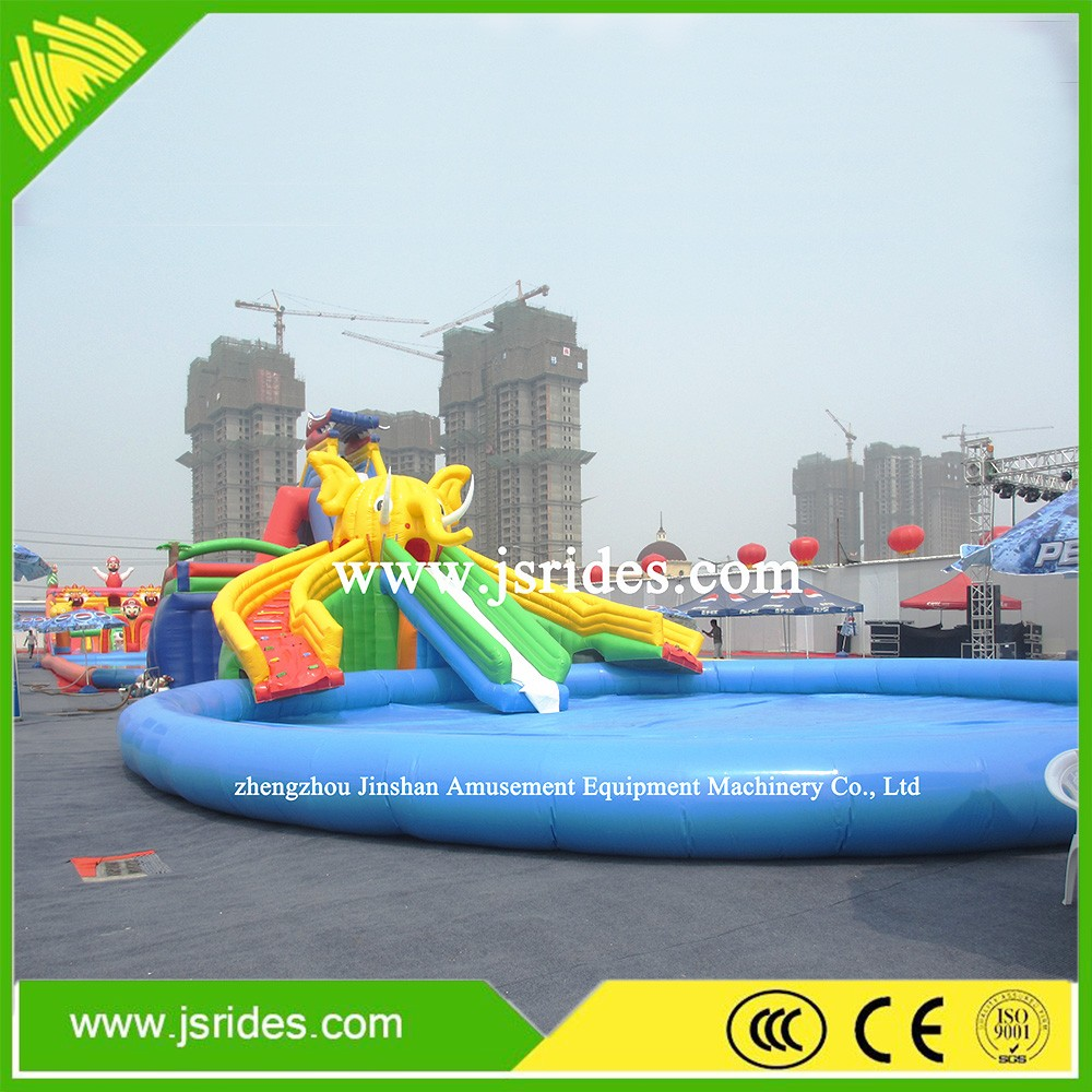 Water Park Game Giant Elephant Inflatable Water slide