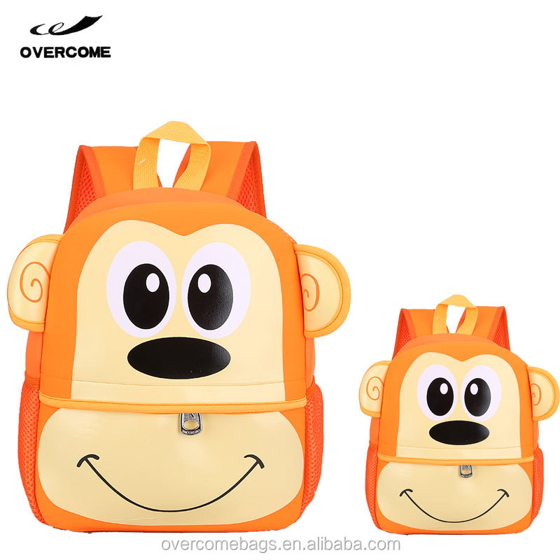 2017 Small Monky Kids Backpack Lovely Children Animal School Bags and Backpacks