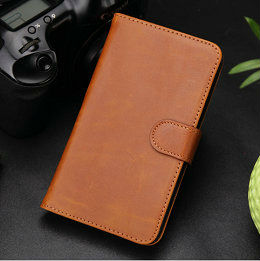 2013 New phone accessory nobel design fashion hot retro leather flip credit card case for samsung galaxy note 2