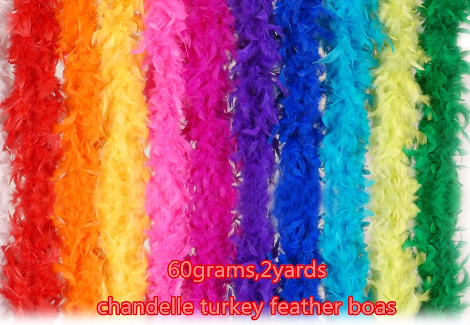 pink and white feather boas 1.5 meters 60 grams with silver tinsel for girls