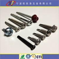 stainless steel wafer head ground self drill screw