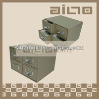 Artificial Leather 4 Drawers Box