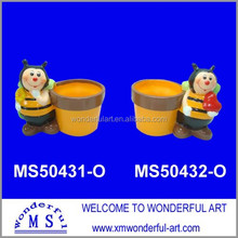 wholesale terracotta mini flower pot with bee decor