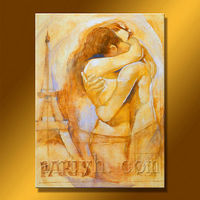 Hot Sell Sex Handmade Nude Painting with Man and Woman