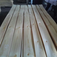 Hot sale sliced cut Russia knotty pine wood veneer for decoration