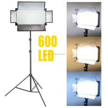 600 LED Flat Photography Studio Video Light Panel Camera Photo Lighting
