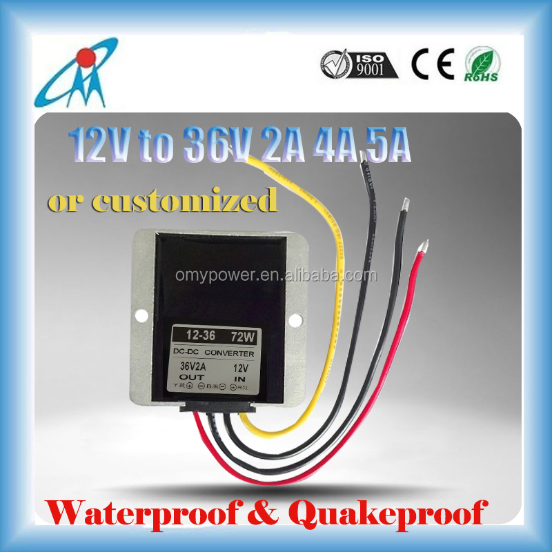 12V to 36V 2A 4A 5A IP65 DC DC converter step up