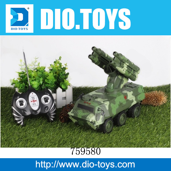New products 2.4 G 7CH war battle rc tank,plastic rc tank toys for kids