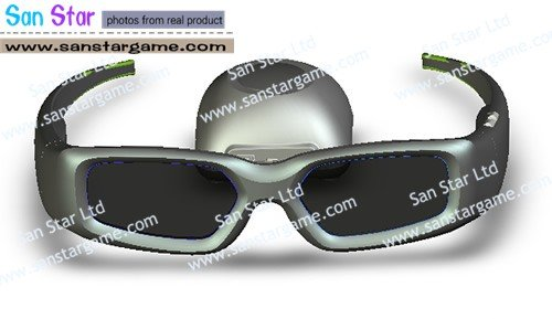 4 pcs of 3D Glasses for PC-Wear 3D Wireless Active Shutter Glasses to Watch Avatar