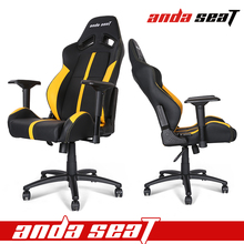 Racing Office Chair Yellow PVC Leather Office Chair AD-7