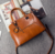 2017 factory wholesale Korea new leather handbag oil wax shoulder bag