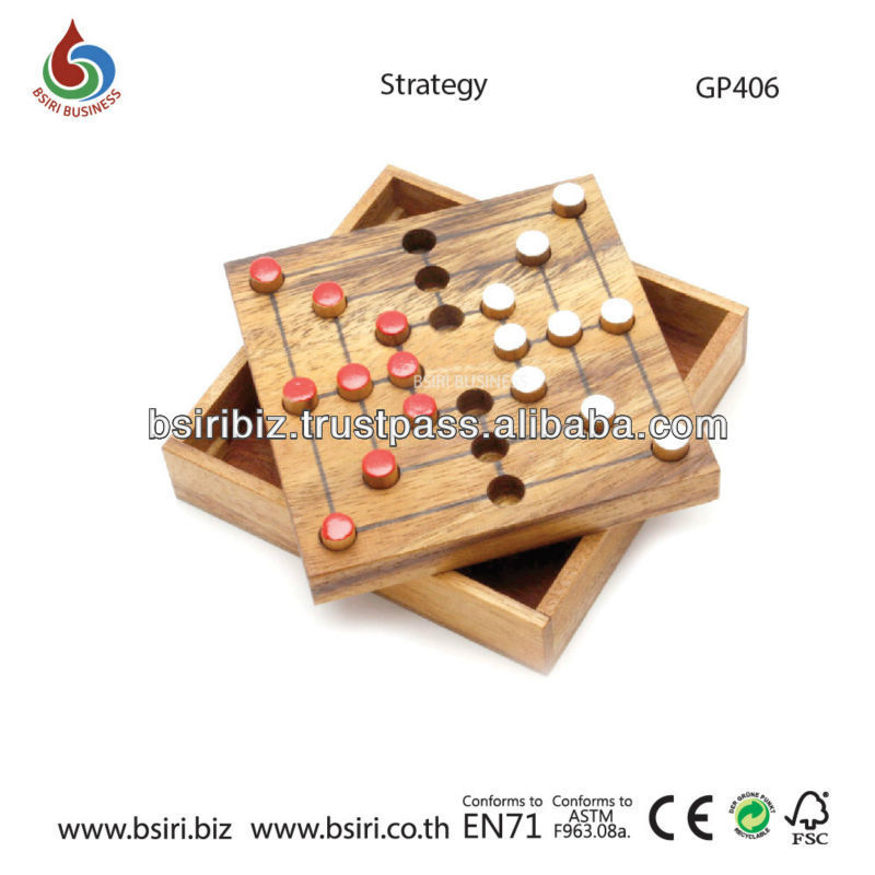 wooden board games set Strategy