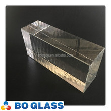 Best selling clear crystal block glass brick in high quality from manufacturer
