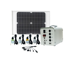 Manufacture 40W solar panel system dc solar home lighting kit