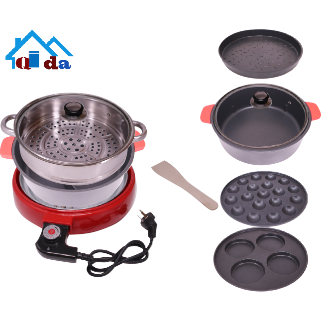 2018 best-selling products soup grill dish cooking pot set double frying pan set