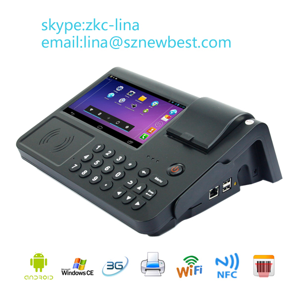 7inch Android POS Terminal Receipt Thermal Printer 2D Barcode Scanner GPRS WIFI POS (PC701)