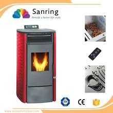 biomass pellet stove & fireplaced, small pellet stove electric remote control