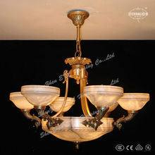 Luxury Traditional faux alabaster pendant lamps in copper finished for hotel project ETL87380