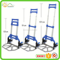 Moving collapsible hand truck cart,hand trolley luggage carts for airport aluminum alloy trolley