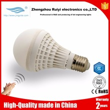 ODM acceptable sound sensor lighting voice control bulb ABS Plastic material led sensor ceiling lamp