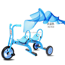 Hot Sale Double Stroller Child Bike Stroller Double Seats Baby Tricycle for Twins Folding Three Wheels Twins Pushchairs Tricycle