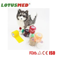 High Quality Colored Adhesive Colorful Pet Bandage For Dogs