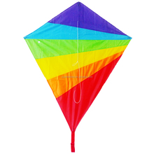 diamond shape child flying kite