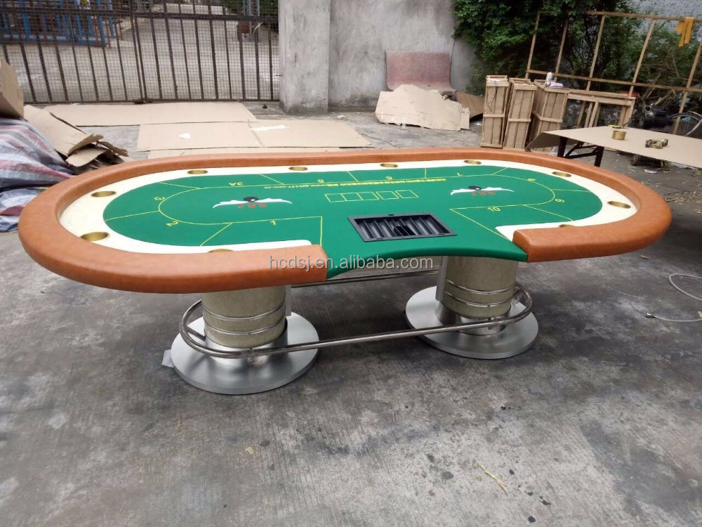 High quality texas holdem poker table with metal legs