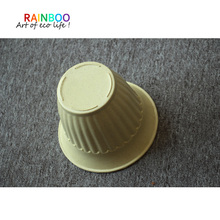 large bamboo fiber plastic flower pot