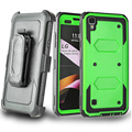 For LG X STYLE LS755/Tribute HD LS676 Heavy Duty Cover with holster Case and built in screen protector