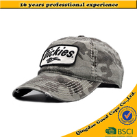 cotton camouflage 6 panel baseball caps and hats men custom applique embroidery logo caps OEM&ODM