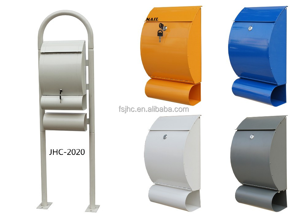 JHC-2020C/colorful wall mounted mailbox/small letterbox/cast iron box