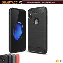 Premium Quality Carbon Fiber Silicone Gel Cell Phone Cover For iPhone 8 Case